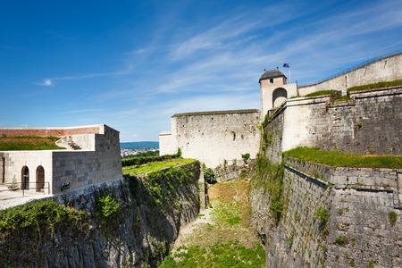 Citadel of Besancon in France against blue sky