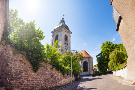 Besancon St. Jean Cathedral at sunny day, France Stock Photo - 95921486