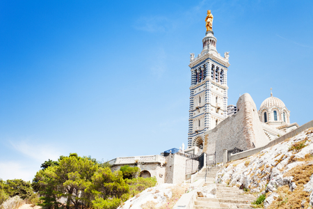 Basilica Notre-Dame de la Garde Marseille France Stock Photo