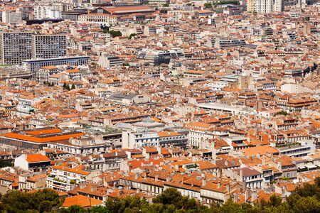 Beautiful cityscape of Marseille at sunny day