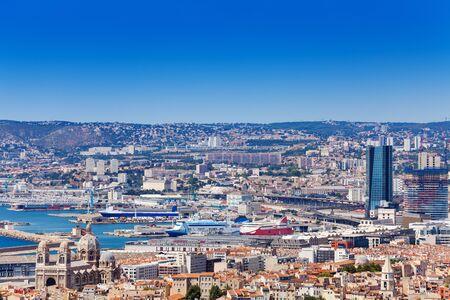 Beautiful cityscape and coastline of Marseille