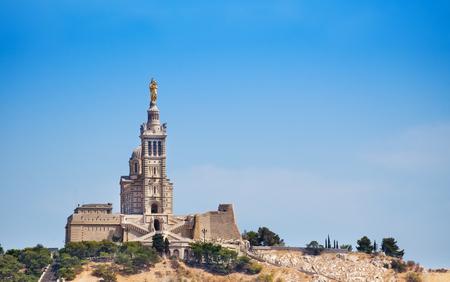 Basilica Notre-Dame-de-la-Garde against blue sky