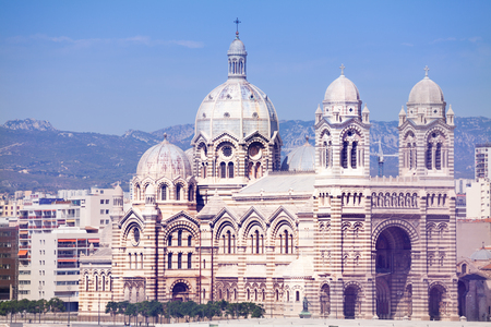 Cathedral of Saint Mary Major in Marseille, France Stock Photo