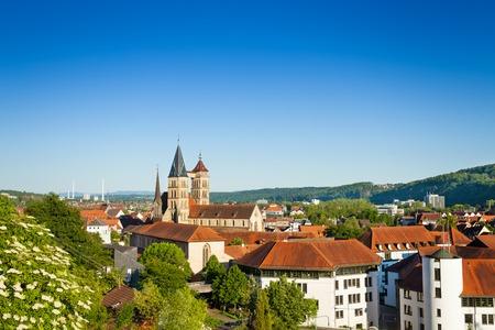 Cityscape of Esslingen with Saint Dionysius church
