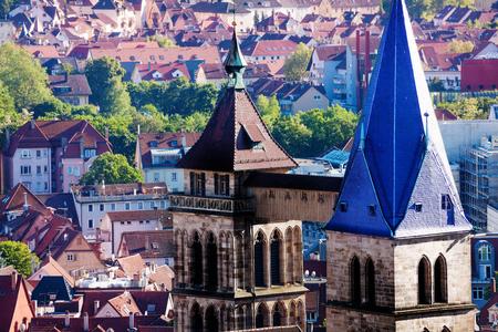 Bell tower of St. Dionysius church in Esslingen