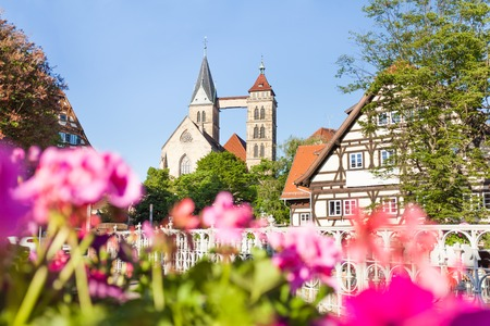 Church of St. Dionysius at sunny day, Esslingen Stock Photo