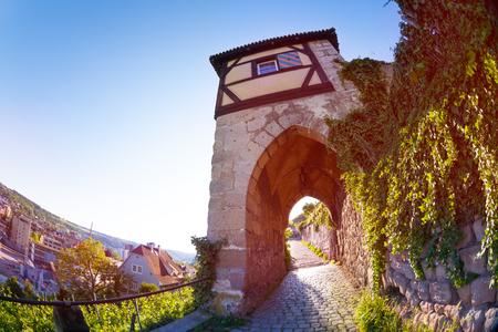 Footpath through Neckarhaldentor tower, Esslingen