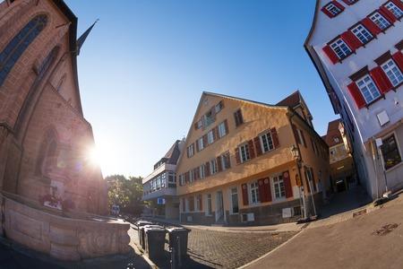 Esslingen medieval buildings at Market Square Stock Photo