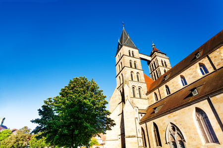 Facade of St. Dionysius church, Esslingen, Germany