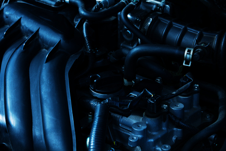 Close-up picture of car powerful engine 스톡 콘텐츠 - 102794839