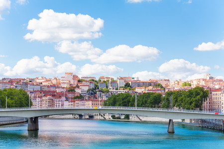 Pont Marechal Juin across the Saone River in Lyon