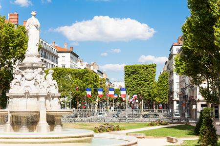 Famous fountain at Place du Marechal Lyautey, Lyon