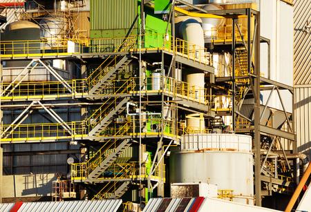 Close-up picture of oil refinery plant equipment Reklamní fotografie