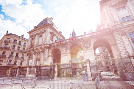 Famous Place des Terreaux in Lyon, France Stock Photo
