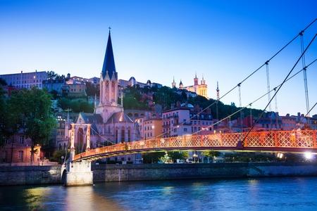 Saint-Georges church and St. Georges bridge, Lyon