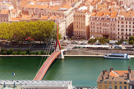 Gateway Courthouse footbridge in Lyon, France
