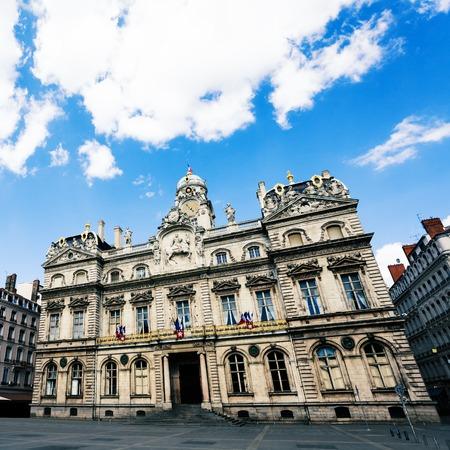 Facade of Lyon city hall building, France, Europe