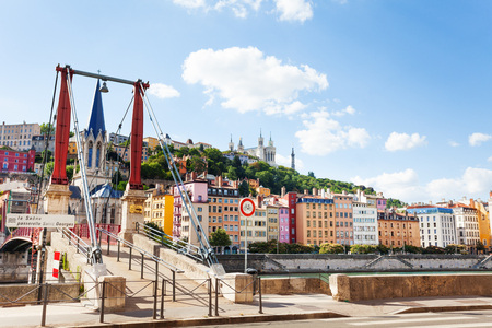 Famous St. George district of old Lyon, France Stock Photo