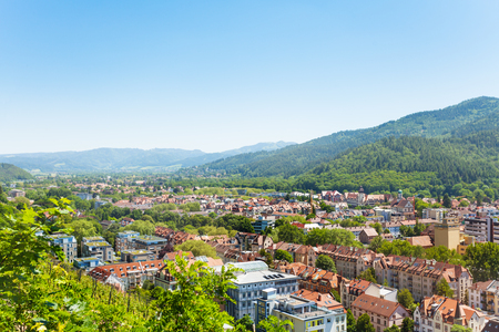 Scenic view of Freiburg im Breisgau in Germany