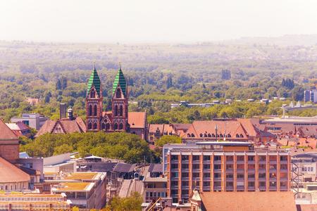 Herz-Jesu-Kirche in Freiburg im Breisgau, Germany Stock Photo