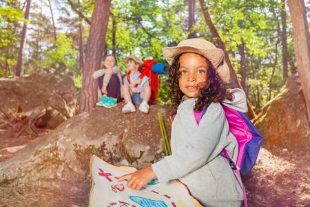 Summer camp orientation kids activities in forest
