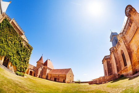 Chateau de Biron buildings, France, Europe Stock Photo