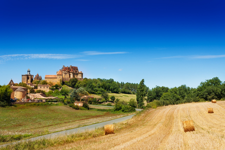 Countryside summer landscape of Biron, France