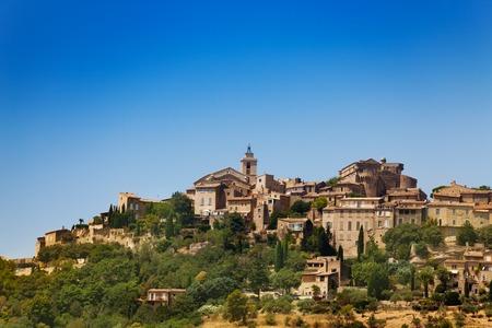 Gordes village view on the mountain, south France Stock Photo