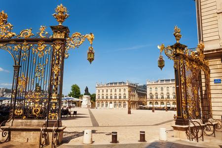 Golden gates to Place Stanislas, Nancy, France Stock Photo