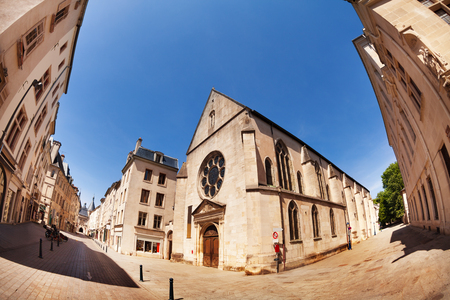 Church in downtown of Nancy town, France