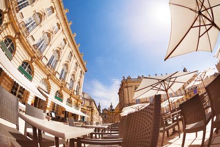 Street cafe on Place Stanislas, Nancy France