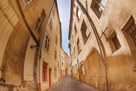 Small street in Nancy downtown, France
