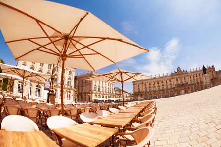 Place Stanislas and cafe in downtown Nancy