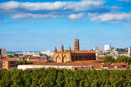 Cityscape of Toulouse with the Jacobins Convent Stock Photo