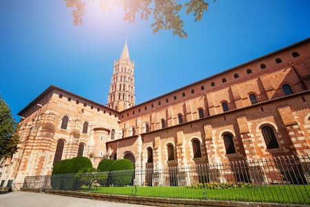 Saint-Sernin basilica in Toulouse, France