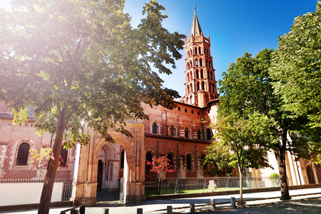 Basilica of Saint-Sernin in Toulouse, France