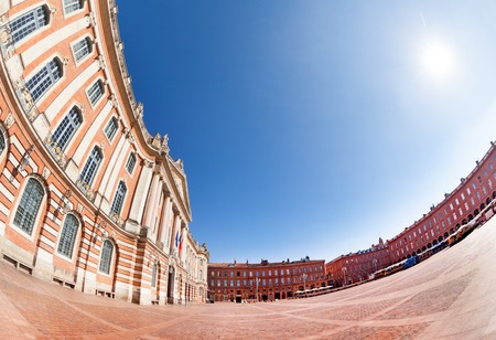 Place du Capitole and city hall of Toulouse