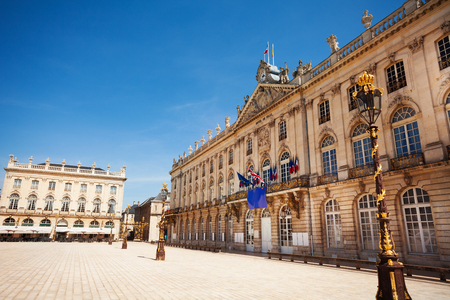 Townhall of Nancy on Place Stanislas, France Stock Photo