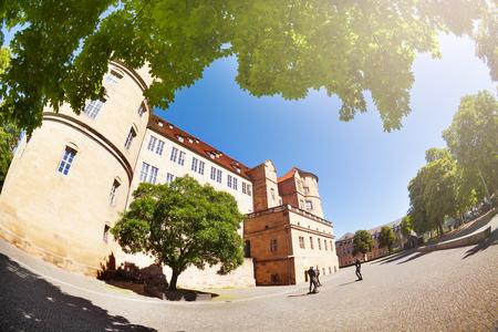 Beautiful view of Stuttgart Old Castle in summer Stock Photo