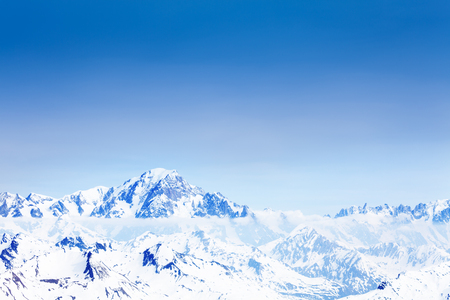 Panoramic view of snow caped Mont Blanc mountain Reklamní fotografie