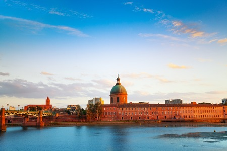 Hospital of La Grave during sunset in Toulouse