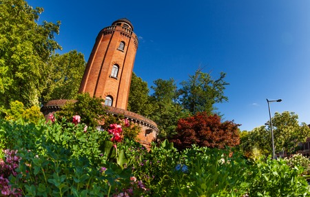 Old brick water tower Le Chateau dEau in Toulouse Stock Photo