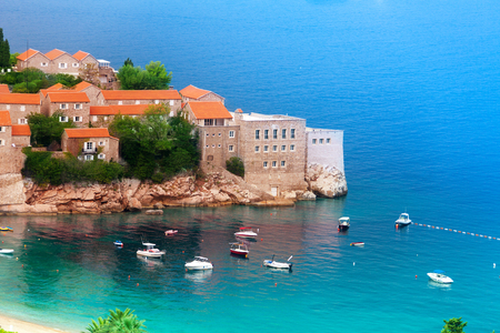 St Stefan island with monastery in Montenegro