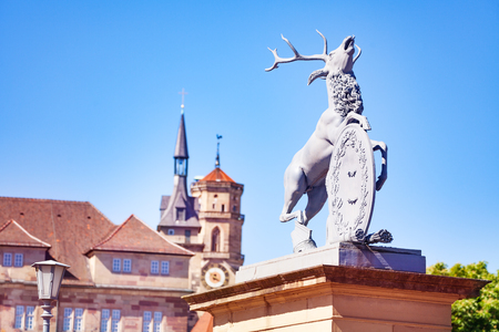 Deer statue at the New Palace, Stuttgart, Germany Stock Photo