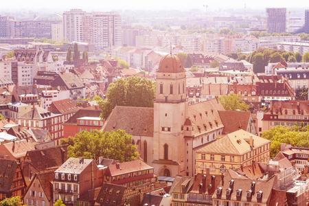 Kirche Sainte Madeleine in der Innenstadt von Straßburg Frankreich Standard-Bild
