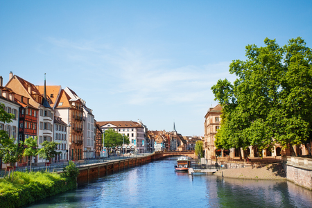 Lovely houses at Petite France quarter, Strasbourg Stock Photo