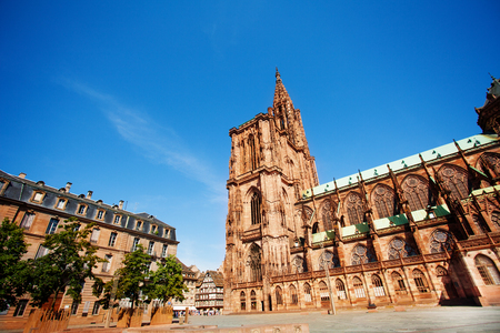 Cathedrale Notre-Dame de Strasbourg in East France Stock Photo