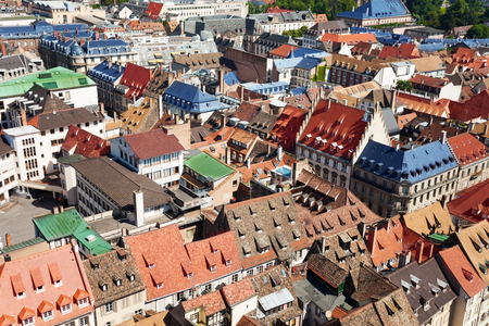Little France quartier from above Strasbourg France