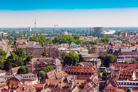 Strasbourg and European parliament panorama view France Stock fotó
