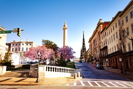 Cityscape of Baltimore at sunny day, Maryland, USA Stock Photo